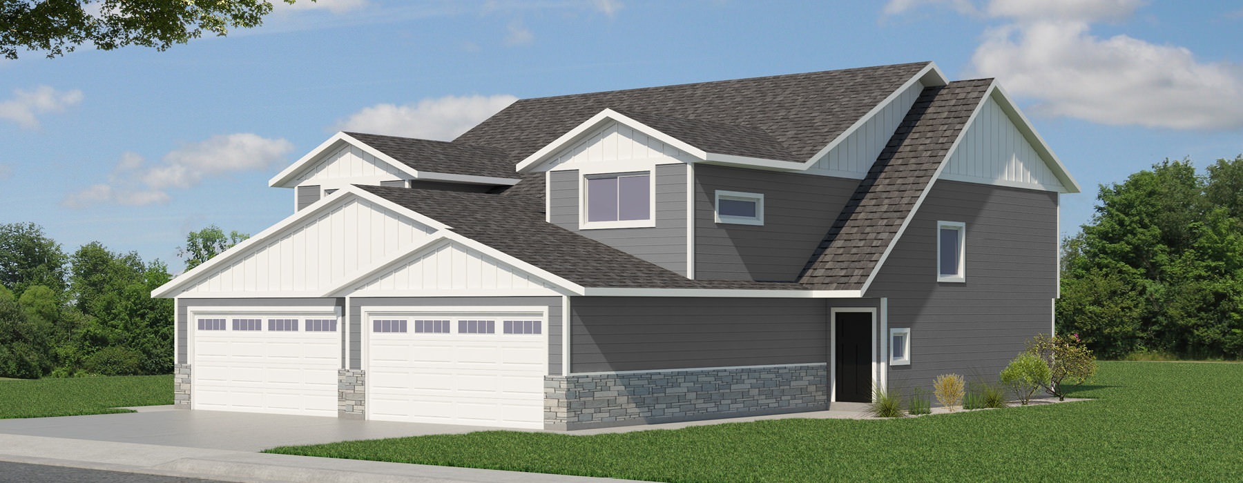 exterior rendering of Arbor Trails Townhome